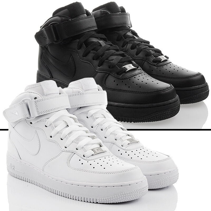 NUOVO Scarpe Nike Air Force 1 Mid High Top Exclusive Uomo Sneaker Pelle sale Scarpe classiche da uomo