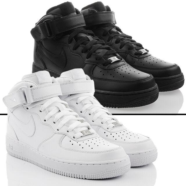 Chaussures Neuves Nike Air Force 1 mi Haut Top Exclusif en Homme Cuir Soldes