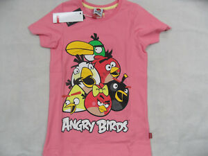 NAME-IT-schoenes-Shirt-Angry-Birds-rosa-Gr-146-152-NEU-ST719