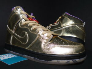 official photos 75cdb 0b149 Image is loading NIKE-DUNK-HIGH-QS-SB-HUMIDITY-TRUMPET-METALLIC-