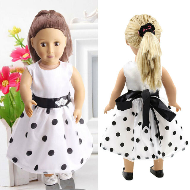 c860cb2b1eef White Summer Party Dress Clothes fit 18   Doll Girl Our Generation Dolls HOT