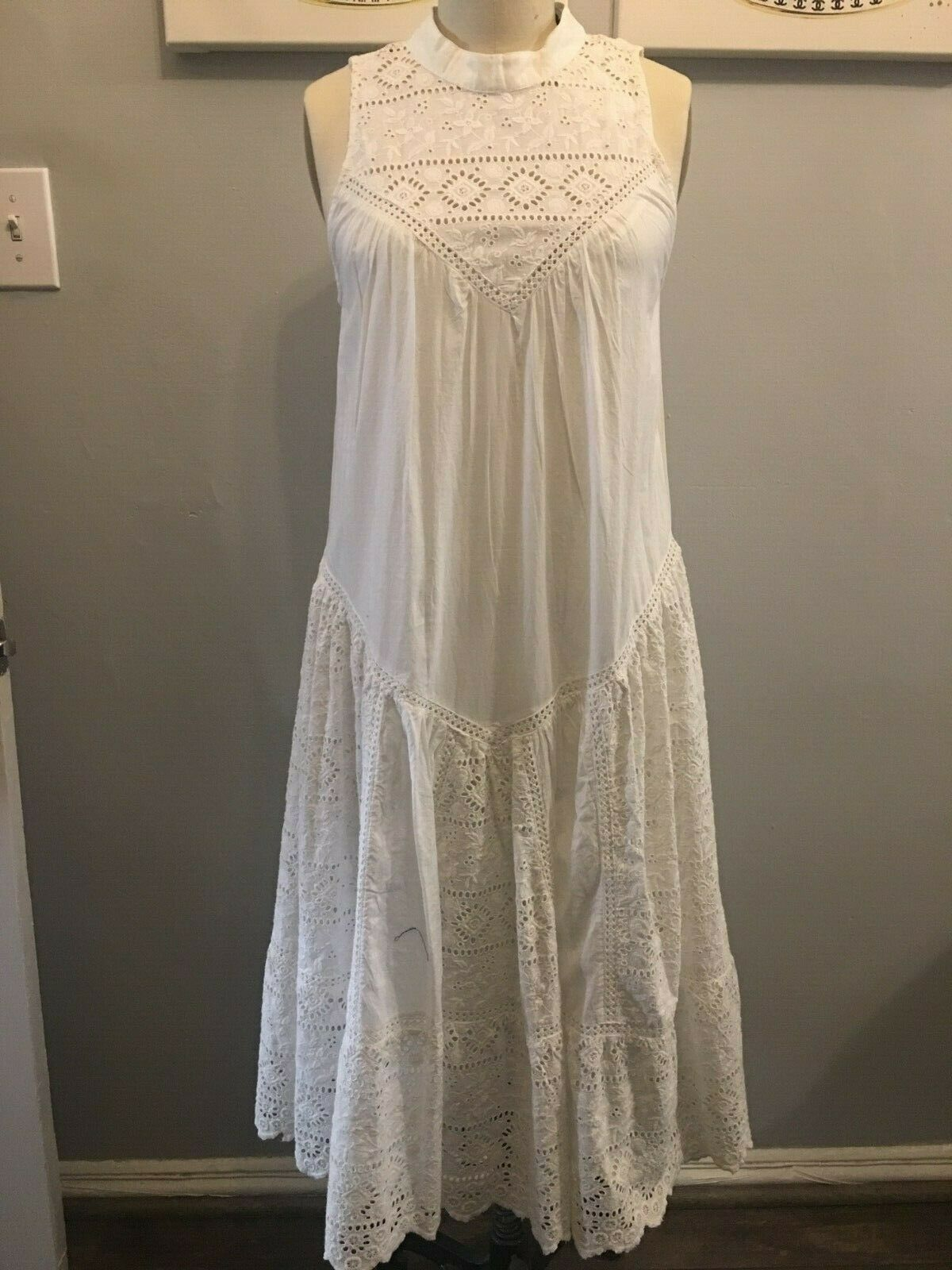 NWT French Connection Clementine Eyelet Lace Dress ( size  US 0) Style 71FGZ