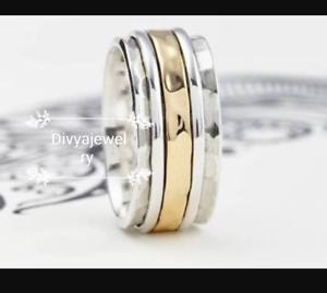 Solid-925-Sterling-Silver-Spinner-Ring-Meditation-Ring-Statement-Ring-Size-sr686