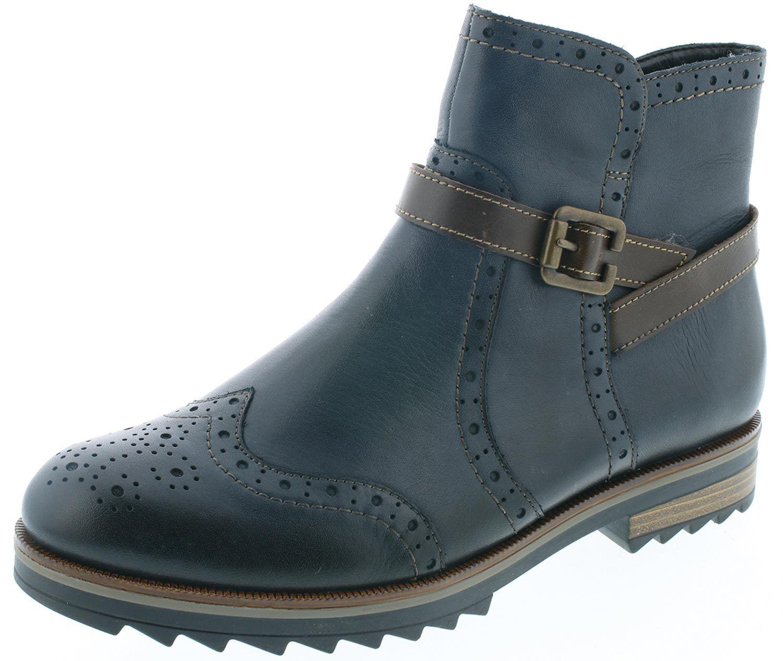 Grandes zapatos con descuento Remonte Damen Stiefel Schnürrstiefel Winterstiefel R2278-14 Blau/braun Neu