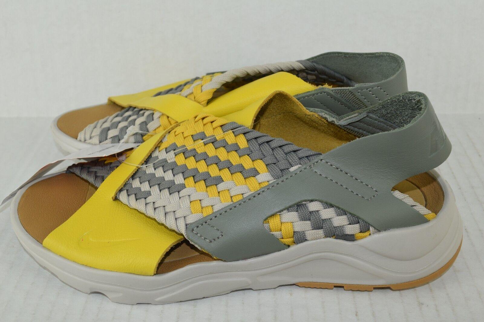 Nike air huarache donne correre ultra sandali 885118-700 solare giallo - grigio dimensioni 6