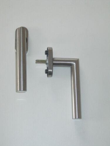 Sonderposten 5x GreenteQ Edelstahl Fenstergriff L-Form Stift 37 mm Rasterolive