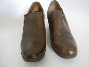 e5150e999 Womens BOC Born Concept Leather Upper Brown Ankle Boots Size 9 M W ...