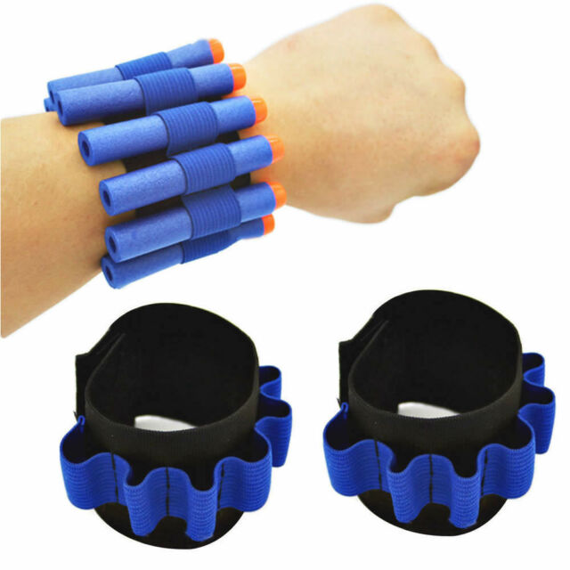 2Pcs Dart Ammo Storage Wrist Belt Band Strap for Nerf N-strike Blaster Stunning
