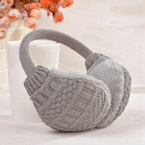 UK STOCK Cozy Design Fluffy Winter Adjustable Earwarmers Knitted Warm Ear Muffs