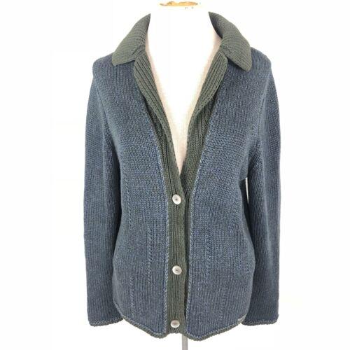 blu up maglia in di Cardigan Willis con button maglione cotone verde collo qa1WqAZHXw