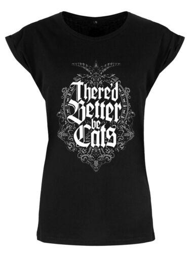 T-shirt il vaudrait mieux chats Premium Noir Femme