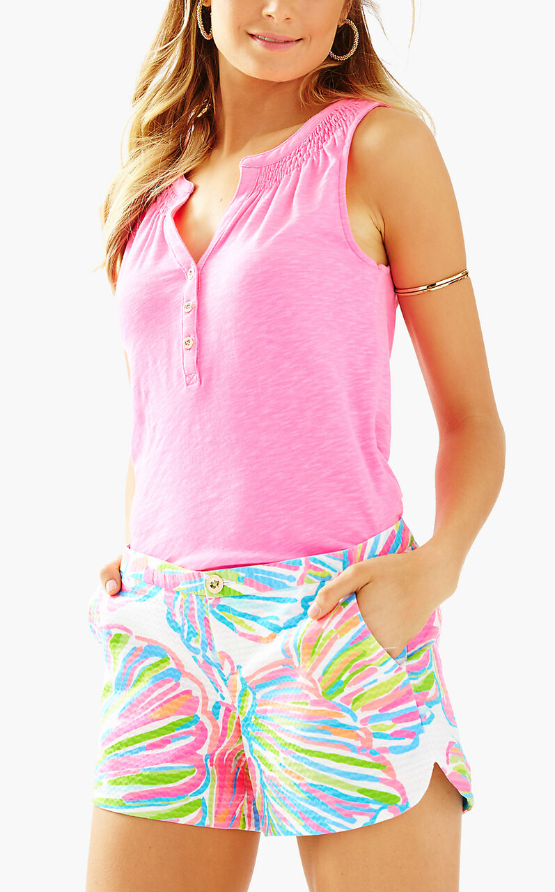 NWT Lilly Pulitzer Pink Pout Shellabrate Adie Shorts, Sz 10,
