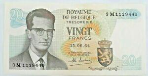 20-Francs-Frank-1964-1976-1984-Choose-Belgique-Belgie-Belgium