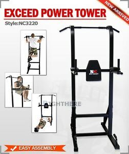 Chin-Up-Push-Up-Pull-Knee-Raise-Multi-Station-Home-Gym-Power-Tower