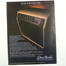 retro magazine advert 1984 DEAN MARKLEY COMBO