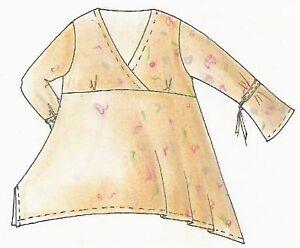 Patrones de corte Lagenlook suéter romaníes talla s