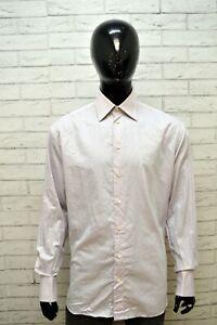 ARMANI-COLLEZIONI-Uomo-Camicia-Taglia-42-2XL-Maglia-Camicetta-Shirt-Men-039-s
