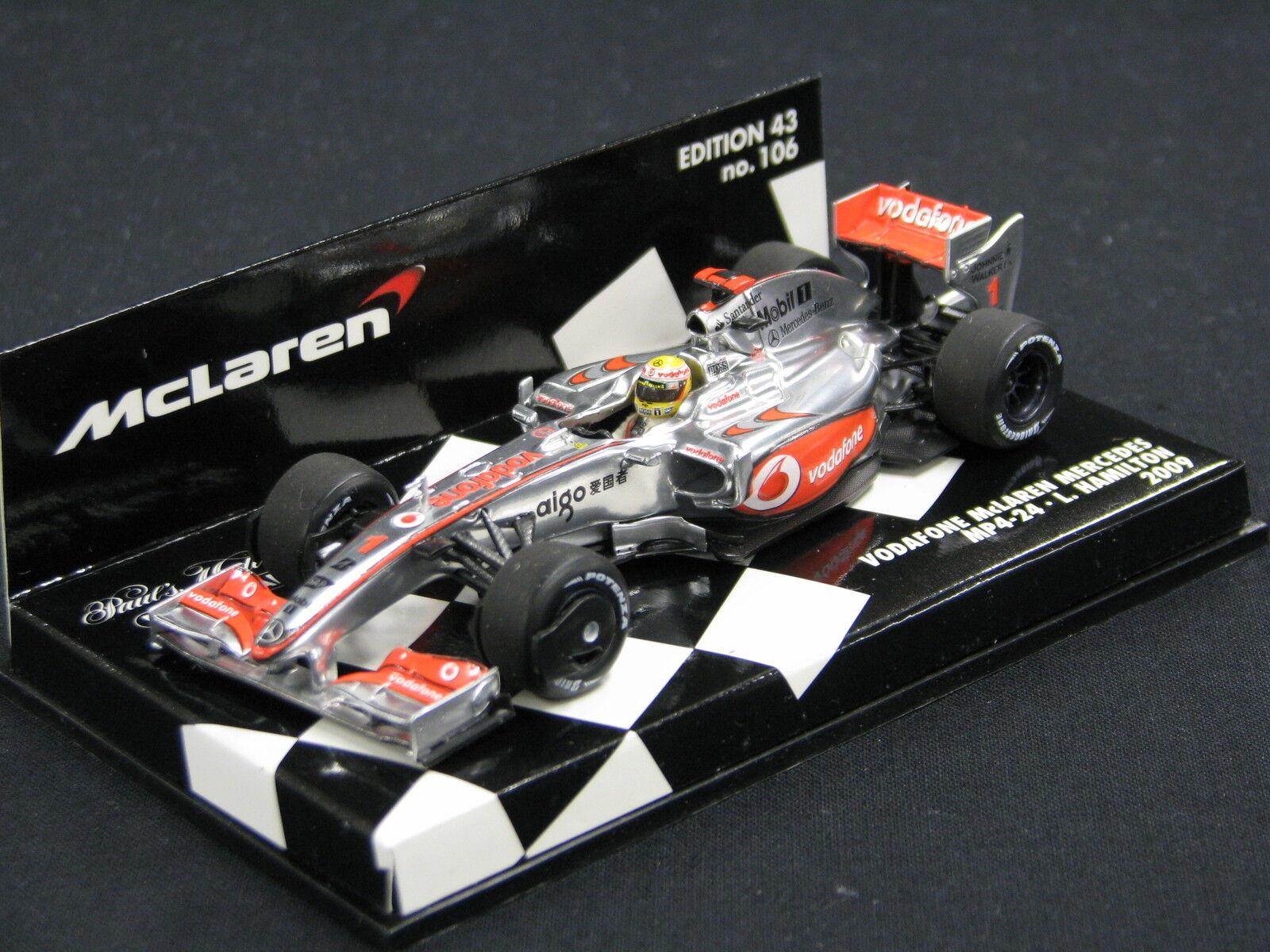 Minichamps McLaren Mercedes MP4 24 2009 1 43  1 Lewis Hamilton (GBR) (JS)