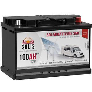 Solarbatterie 100Ah 12V SOLIS DCS Wohnmobil Boot Versorgung Batterie 80Ah 90Ah