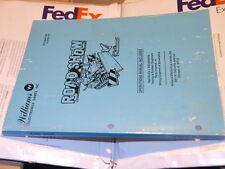 Pinball Williams Roadshow Full Operations & Schematics ORIGINAL Manual Flipper