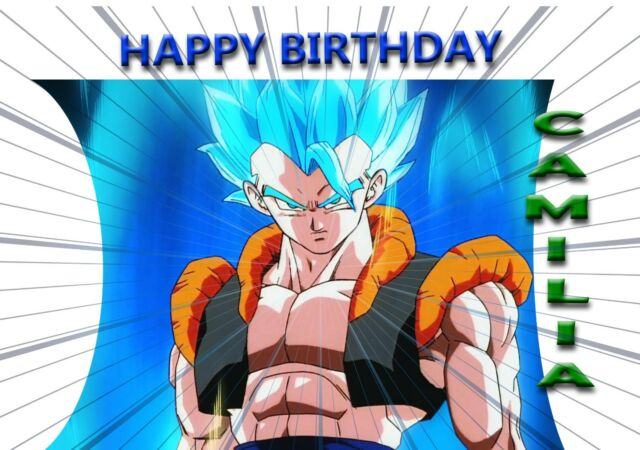 Personalised Dragon Ball Z Birthday Greeting Card A5 For Sale Online
