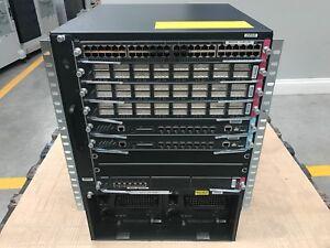 Cisco WS-C6509-E, 2x WS-SUP32-GE-3B, 1x WS-X6148-GE-TX, 3x WS-X6516A-GBIC