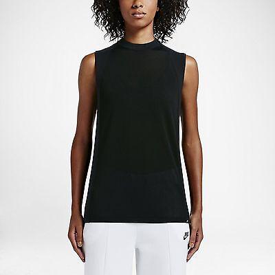 Women's NIKE NSW Tech Knit Top - Size XS - 809547-010 - Black