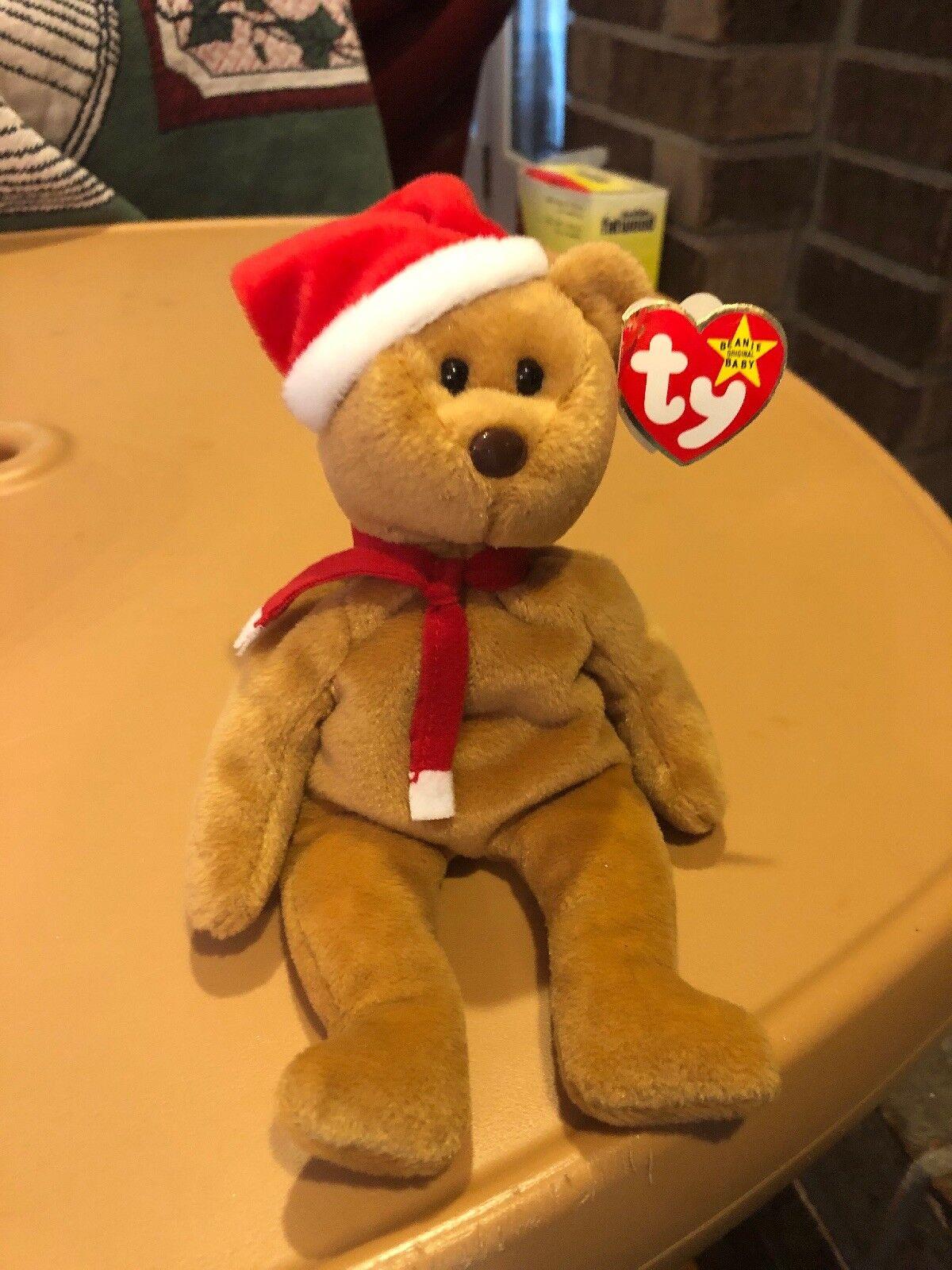 1997 Teddy Ty Beanie Baby Bear RARE with Tag Errors 1996 Style 4200