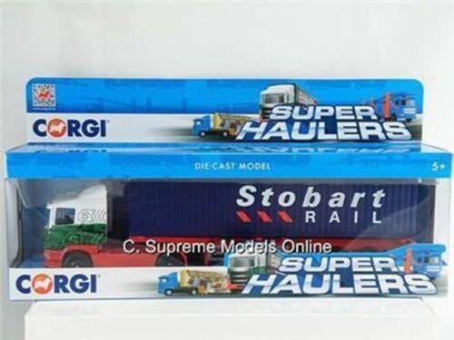 CORGI EDDIE STOBART SCANIA SKELETAL CONTAINER LORRY MODEL TRUCK TY86650 Z01