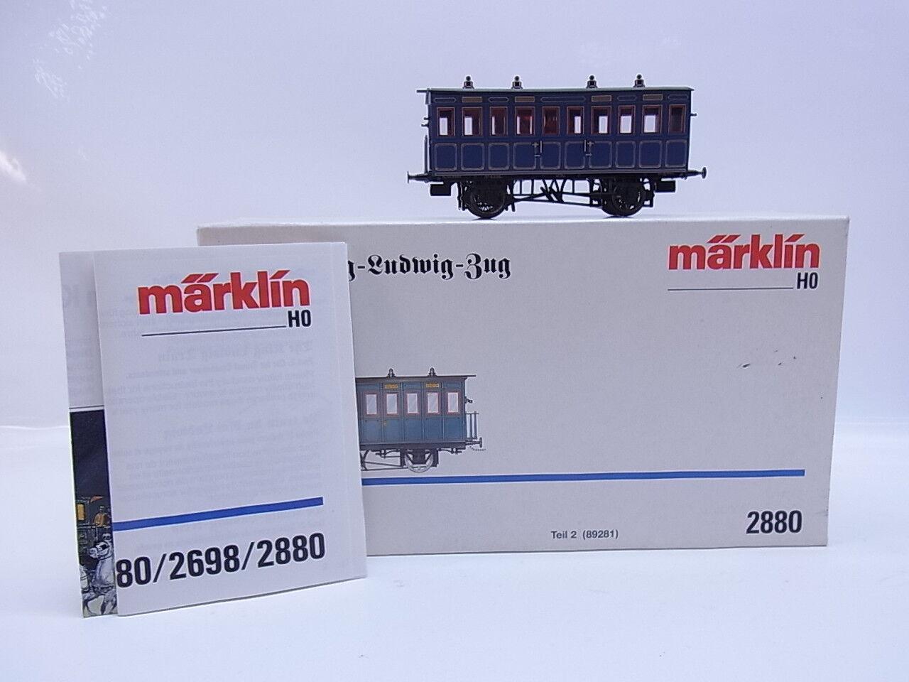 Lot 46465   Bella marklin h0 2880 reLudwigtreno sulla scia di autoparte 2 OVP