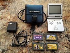 Nintendo Game Boy Advance SP Silver Handheld System AGS-001 Lot