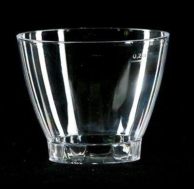50 Trinkbecher glasklar 0,25 Einwegbecher Plastikbecher