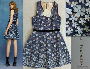 Nwt foxiedox anthropologie felicia d floral applique lace mini