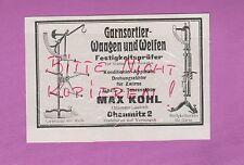 CHEMNITZ, Werbung 1931, Max Kohl Garnsortier-Waagen Weifen Festigkeitsprüfer