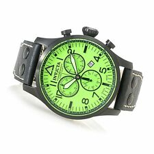 New Invicta Reserve 47mm Swiss Made Quartz Chronograph Leather Strap Watch 19754
