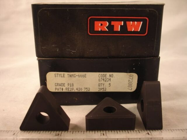 TNMG 666E 918 RTW Carbide  Inserts (5pcs) 1381