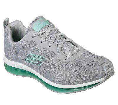 Details zu NEU SKECHERS Damen Sneakers SKECH AIR ELEMENT Freizeitschuhe Sportschuhe Grau