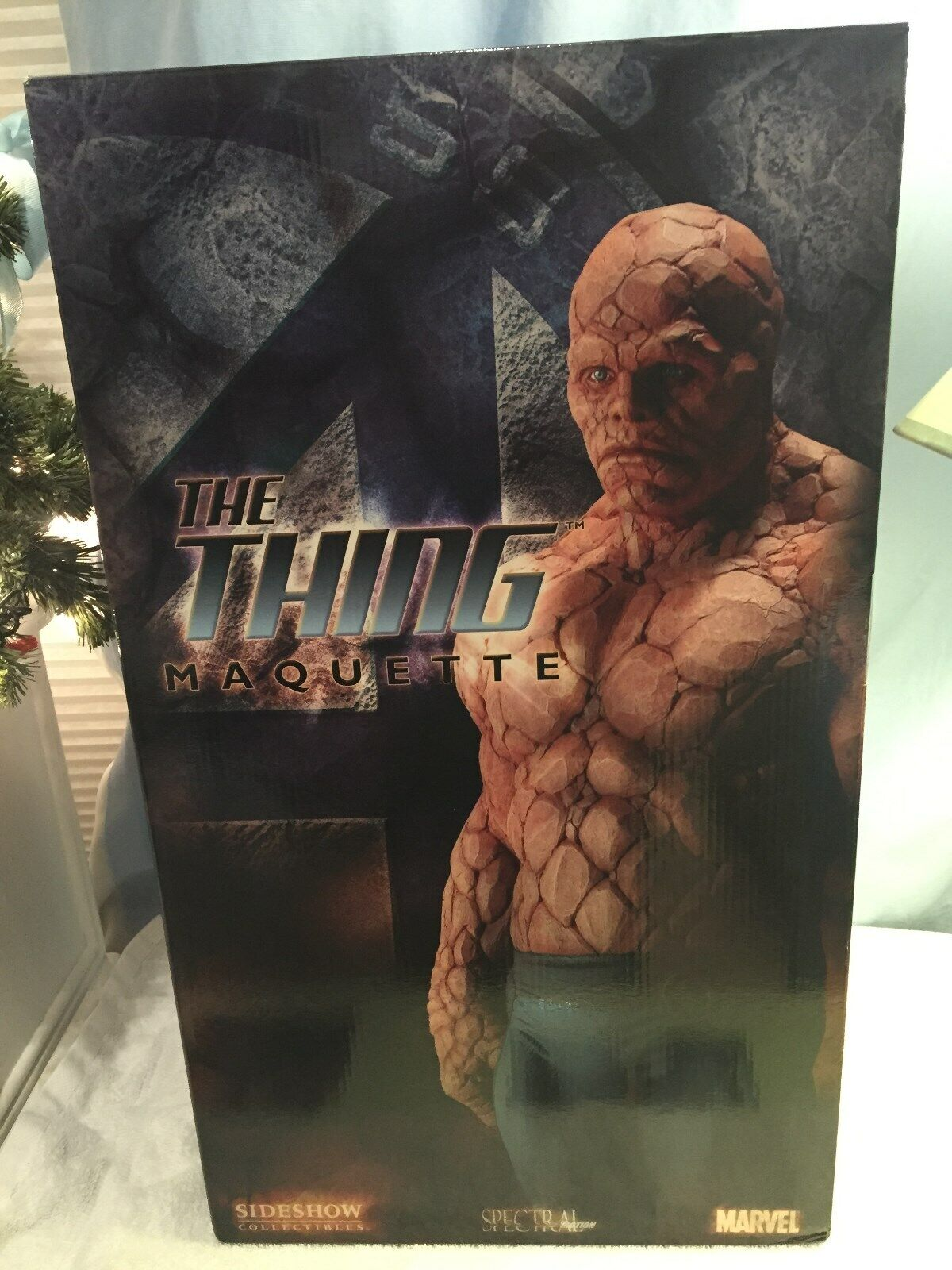 SIDESHOW MARVEL FANTASTIC FOUR THE THING 1 4 SCALE MAQUETTE STATUE FIGURE BUST