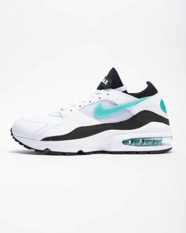 Nike MEN'S Air Max 93 White/Sport Turquoise/ Black SIZE 14 BRAND NEW Casual wild