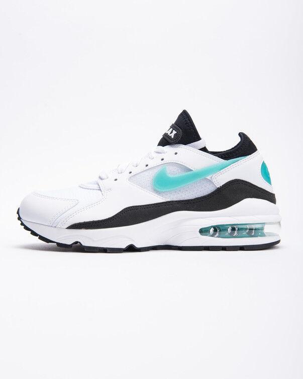 Nike air max 93 uomini bianchi / sport turchese / nero taglia 14 nuove di zecca