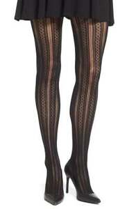 89ffc6bfa3624 Image is loading SPANX-Control-Top-Shaping-Tights-Patterned-Diamond-Stripe-