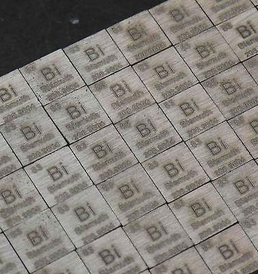 1 pcs 99.99% 9.73 grams Bi Bismuth Carved Element Periodic Table 10mm Cube #E0Bi