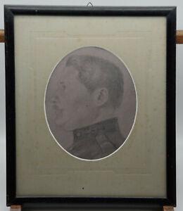 Tableau Ancien Portrait Dessin De Gendarme Gendarmerie 1ere Guerre Mondiale Ebay