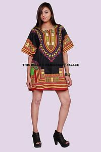 fe0fb5205dcf8 Image is loading Dashiki-African-Mexican-Poncho-Shirt-Blouse-Cotton-Unisex-