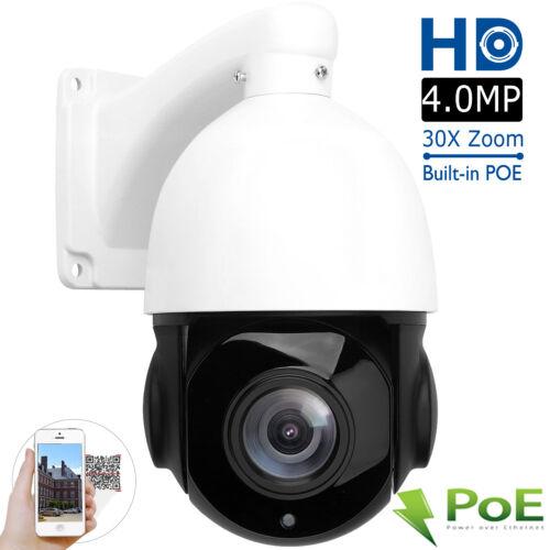 4MP 30X Zoom HD PTZ IP Camera Pan Tilt Outdoor Security Network P2P IR Night POE