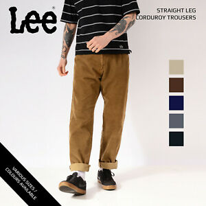 Lee-Color-Pantalones-de-pana-pierna-recta-grado-a-W30-W32-W34-W36-W38-W40