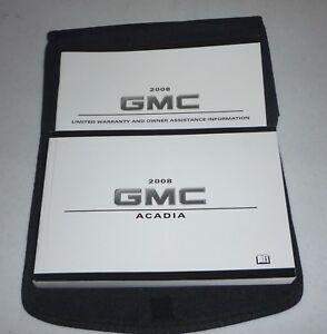 2008 gmc acadia owners manual 08 set onstar guide w case ebay rh ebay co uk 2008 gmc yukon owner's manual 2008 gmc canyon owners manual