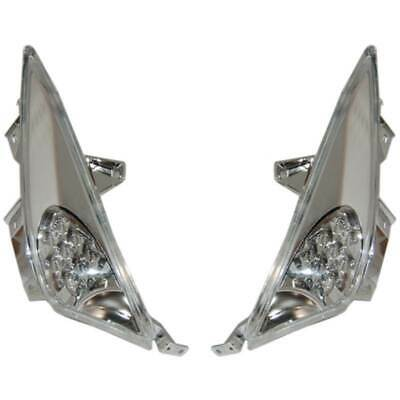 77206378l Cp Frecce Ant A Led Cromo/trasp Per Yamaha Tmax 2008 2009 2010 2011 Essere Accorti In Materia Di Denaro