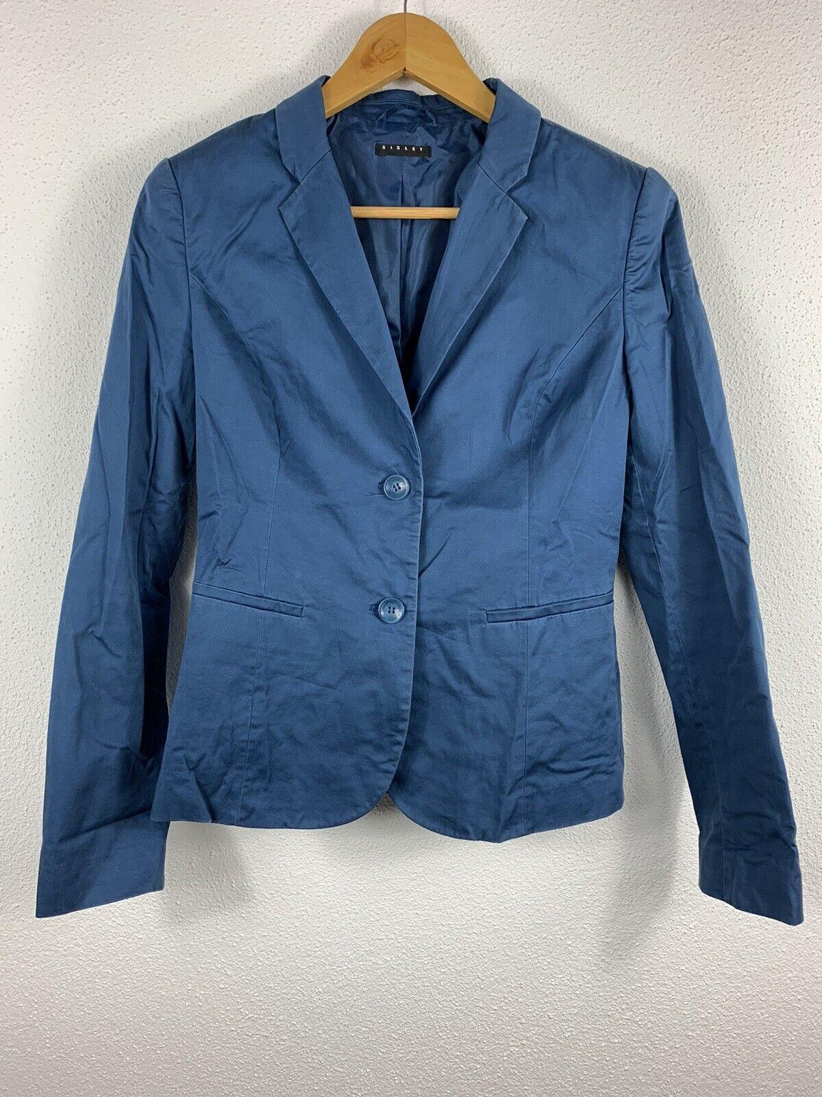 Ladies Blazer-SISLEY-Blue-Used - Basic-Size 44 - #103