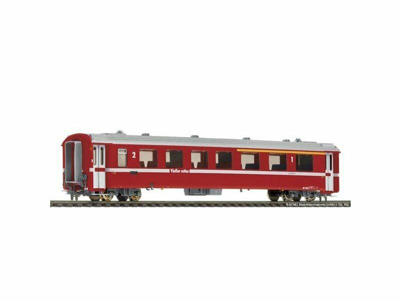 BEMO 3241165 unità carrello II dal 1565 rosso della RHB, traccia h0m